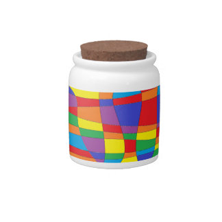 Stained Glass Abstract Candy Dish