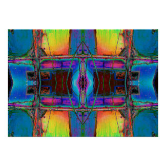 """""""Stained Glass"""" Abstract Color Meditation Art Poster"""