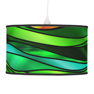 Stained Glass Abstract Hanging Lamp