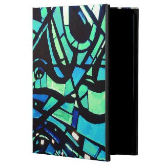 Stained Glass Abstract in Blues Cover For iPad Air