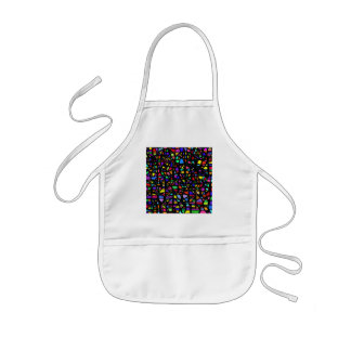 Stained Glass Abstract Kids Apron