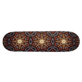 Stained Glass Abstract Skateboard