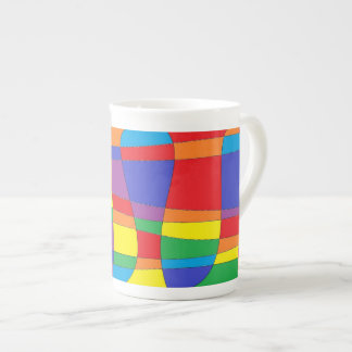 Stained Glass Abstract Tea Cup