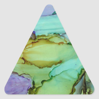 Stained Glass Abstract Triangle Sticker
