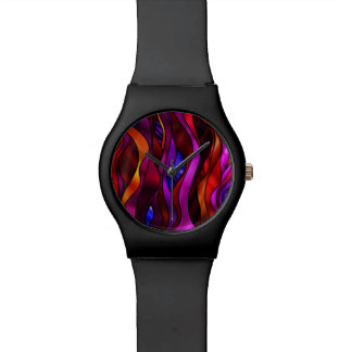 Stained Glass Abstract Wrist Watch