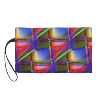 Stained Glass Abstract Wristlet Purse