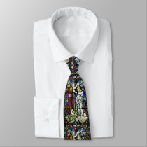 Stained Glass Adult Baptism Jesus St. John Baptist Neck Tie
