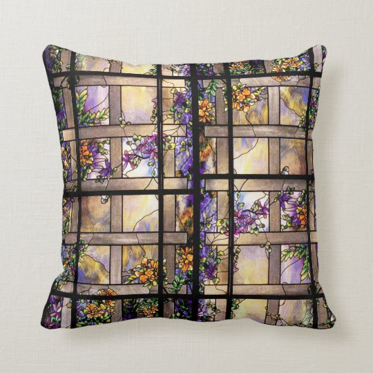 Stained Glass American MoJo Pillow