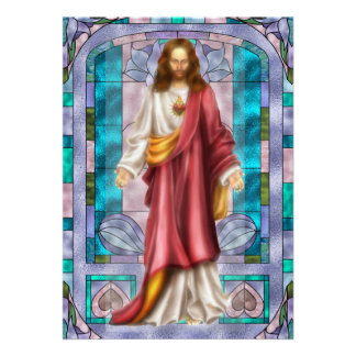 Stained Glass and Jesus- SRF Personalized Invitations