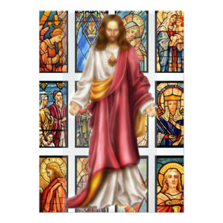 Stained Glass and Jesus- SRF Personalized Invites