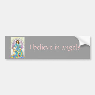 Stained Glass Angel Bumper Sticker