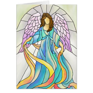 Stained Glass Angel Card