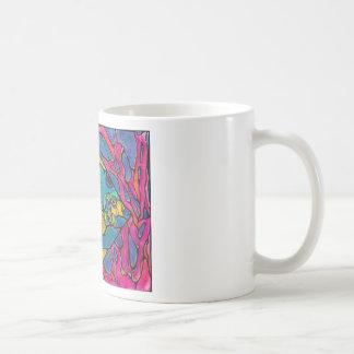 Stained Glass Angel Fish Coffee Mug