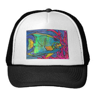 Stained Glass Angel Fish Trucker Hat