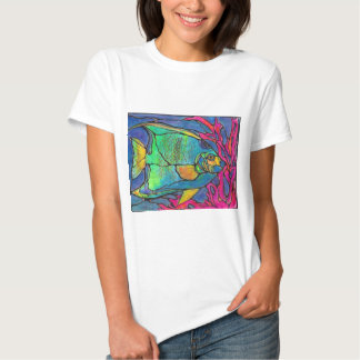 Stained Glass Angel Fish Shirt