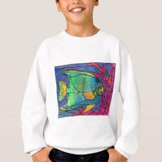 Stained Glass Angel Fish Sweatshirt