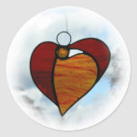 """Stained glass  """"Angel Heart"""" sticker"""