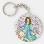 Stained Glass Angel Keychains