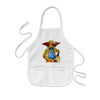Stained Glass Angel Kids' Apron
