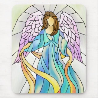 Stained Glass Angel Mouse Pad