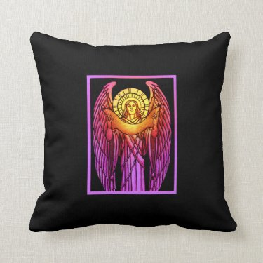 Stained Glass Angel Pillow