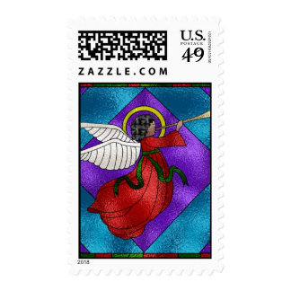 Stained Glass Angel Postage