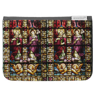 Stained Glass Angels Cherubs Kindle Folio Case
