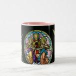 Stained Glass Angels--Mug Two-Tone Coffee Mug
