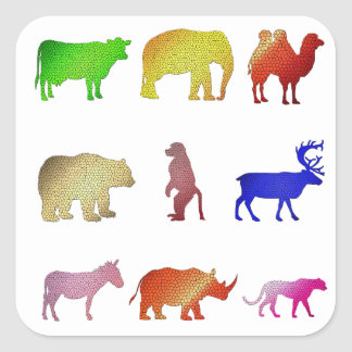 Stained Glass Animals Sticker