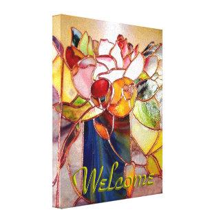 Stained Glass Arrangement Flower Canvas Print