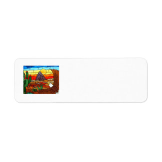 STAINED GLASS ART by David Smith Label 01 Return Address Label