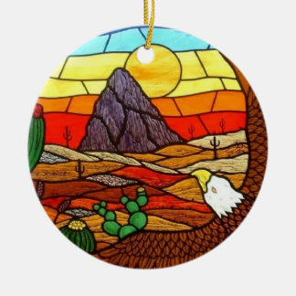 STAINED GLASS ART by David Smith Ornament 01