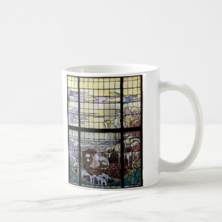 Stained Glass Art Nouveau Sea Scene Mug