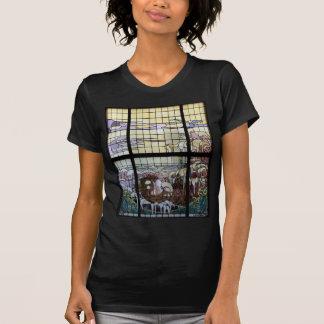 Stained Glass Art Nouveau Sea Scene T-Shirt