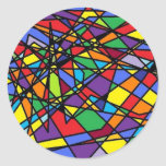 Stained Glass Art Shattered Window Sticker