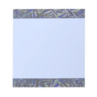 Stained Glass Baby Blue Notepad