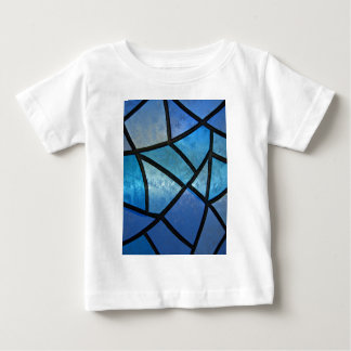 Stained glass background with ice flowers baby T-Shirt