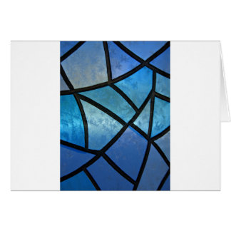 Stained glass background with ice flowers card