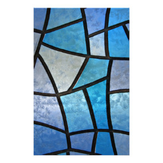 Stained glass background with ice flowers stationery