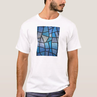 Stained glass background with ice flowers T-Shirt