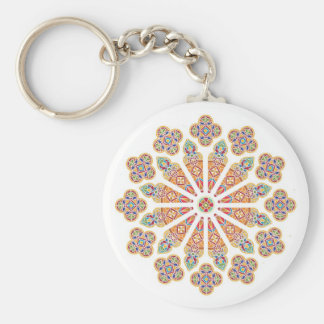 Stained Glass basic button key chain