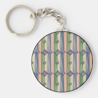 Stained Glass Basic Round Button Keychain