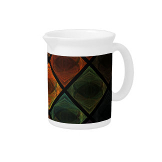Stained Glass Beverage Pitcher