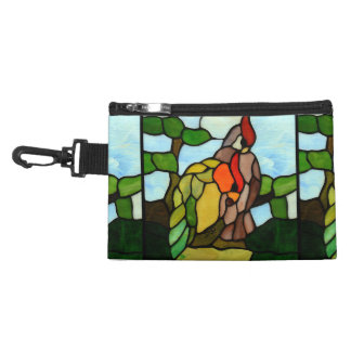 Stained Glass Birds Accessory Bag