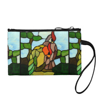 Stained Glass Birds Coin Purse