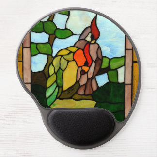 Stained Glass Birds Gel Mouse Pad