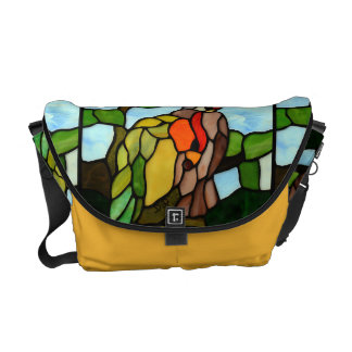 Stained Glass Birds Messenger Bag