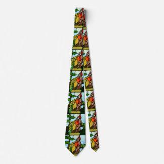 Stained Glass Birds Neck Tie