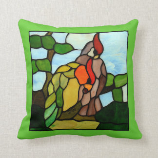 Stained Glass Birds Pillow