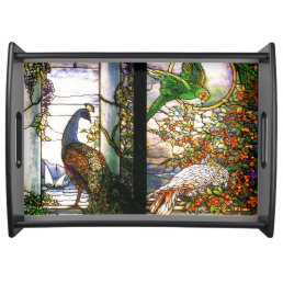 Stained Glass Birds Serving Tray